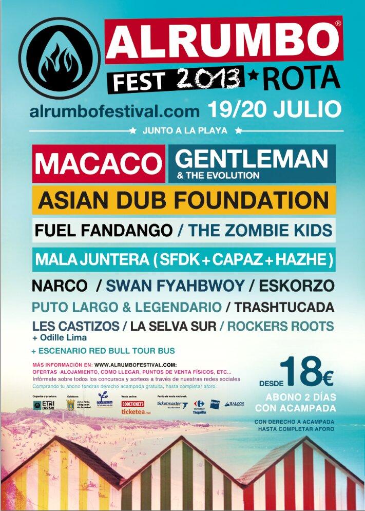 Alrumbo festival 2013- Cartel