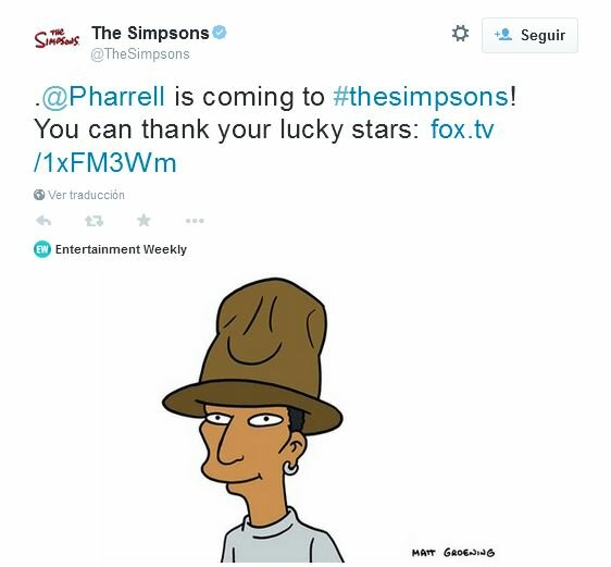 Pharrell williams en los simpsons