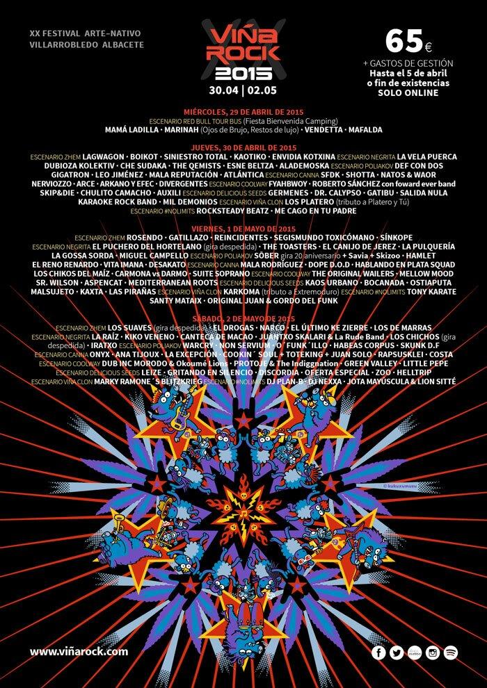 Vina-rock-2015-cartel-por-dias